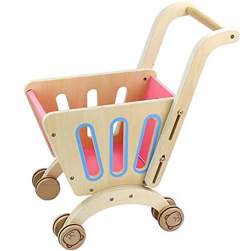 Nuheby Chariot Enfant Caddie Course Supermarché-Jouet en Bois Caddy Fille Garcon 3 4 5 Ans- Jeu d'imitation...