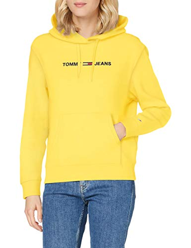 Tommy Hilfiger Tjw Linear Logo Hoodie Suéter, Star Fruit Yellow, M para Mujer