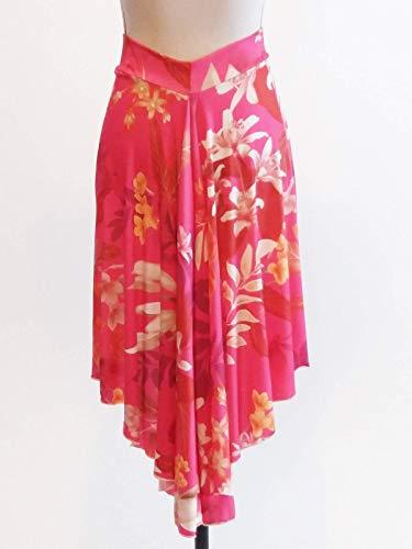 Falda de tango con estampado floral rosa Tango | Ropa de tango | Ropa de tango argentino | Falda Milonga | Solo 2 faldas disponibles - Corto Grande