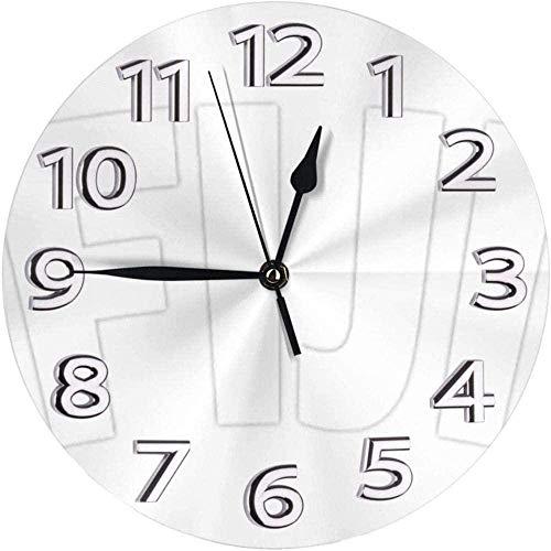 Wanduhr Wanduhr Fidschi Flagge Uhr Nummer R&e Wanduhr Arabische Ziffern Uhr Stille Nicht Tickende Uhr Dekor Bunte Wohnküche Schule 10 Zoll