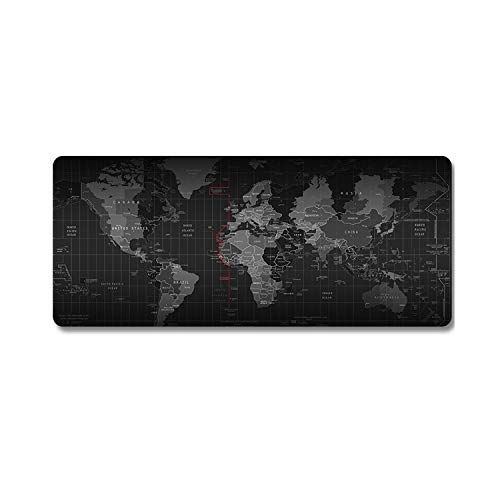 SKYXINGMAI Large Gaming Mouse Pad Anti-Slip Rubber Mouse Mat Keyboard Pad Desk Mat for Laptop Computer Gamer Mousepad (23.6 Inch×11.8 Inch, World-map)