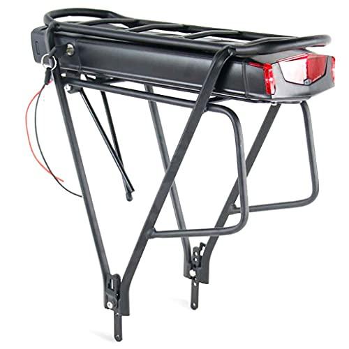 N&I Batería de ion de litio de Rear Rack con puerto USB, batería de litio para bicicleta eléctrica de 500 W, 350 W, 250 W, motor de 36 V, 17,5 Ah