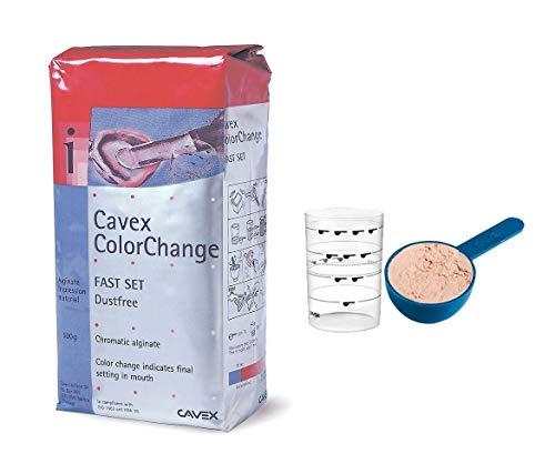 Cavex ColorChange Alginate - Fast Set (1) (500 Grams + Scoop & Water Measure)