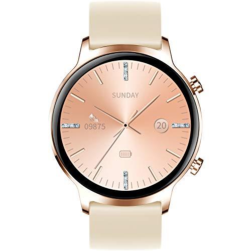 Smartwatch Reloj Inteligente Impermeable IP68 Pulsera Actividad Monitor de Sueño Podómetro Pulsómetro control de música, cronómetro, interfaces personalizados reloj deportivo para Hombre Mujer niños