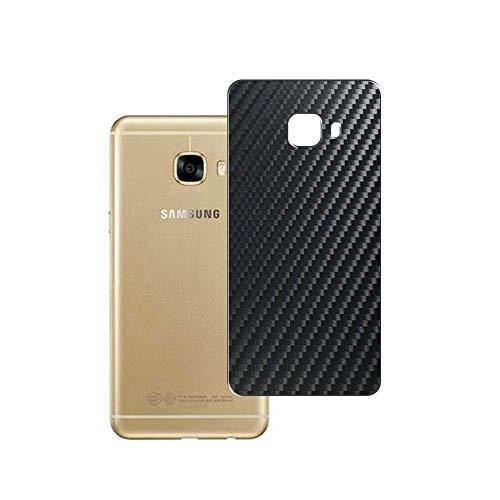 Vaxson 2-Pack Pellicola Protettiva Posteriore, compatibile con Samsung GALAXY C5 C5000, Back Film Protector Skin Cover [ Non Vetro Temperato ] - Fibra di Carbonio Nera