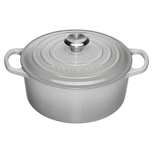LE CREUSET Cocotte - Cazuela redonda de hierro fundido, 22 cm, color gris