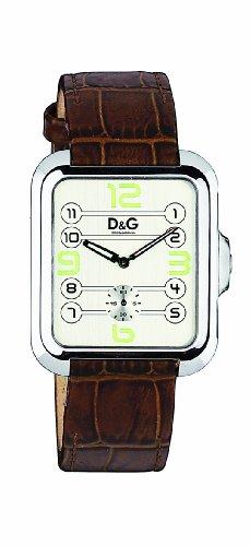 D&G Dolce&Gabbana d&g apache - Reloj analógico de caballero de cuarzo con correa de piel marrón - sumergible a 30 metros