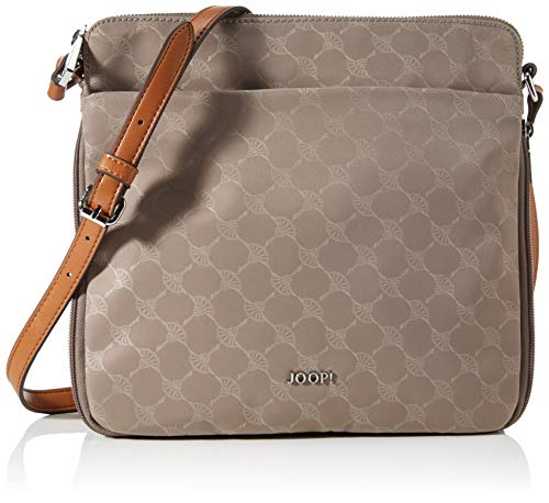Joop! Damen Lola shoulder bag (zipper, taupe, 25x24x7