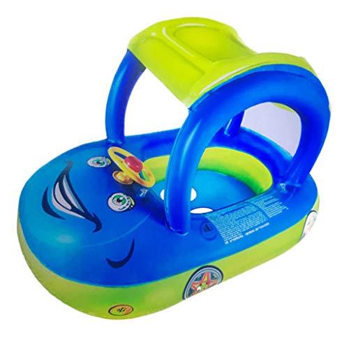 ZZALLL bebé niño Modelo de Coche Anillo de natación niño Inflable Barco Flotador niños Asiento de natación