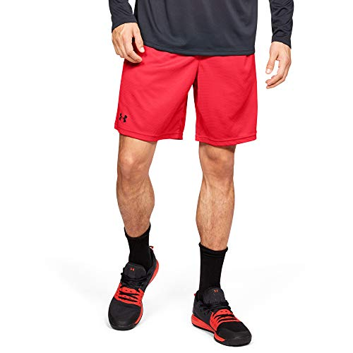 Under Armour Men's Tech Mesh Shorts , Red (600)/Black , XX-Large