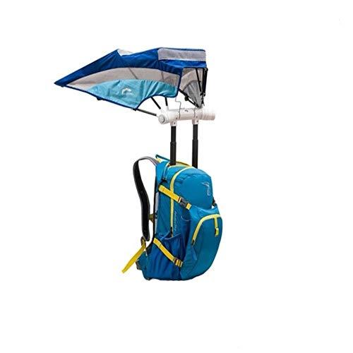 MYFGBB Smart Rucksack mit Regenschirm, Sportrucksack Camping Wandern Wasserdichter Rucksack Weibliche Sonnencreme Große Kapazität Männliche Outdoor Tragbare Reise Regenschirm Tasche,F