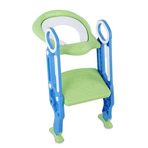 toilettensitz kinder, Kinder Toilettensitz Stuhl, Kinder WC Leiter mit rutschfesten Füße, Töpfchen Trainingssitz für Training Babyform die Gewohnheit der unabhängigen Toilette