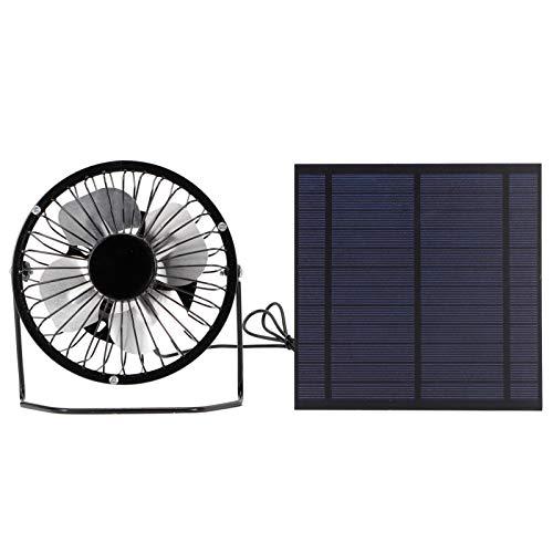 Omabeta Mini Pannello Solare da 5 W con Ventola di Raffreddamento Portatile Set di Pannelli Solari Fotovoltaici per Serra per la Pesca in Viaggio All aperto da Casa