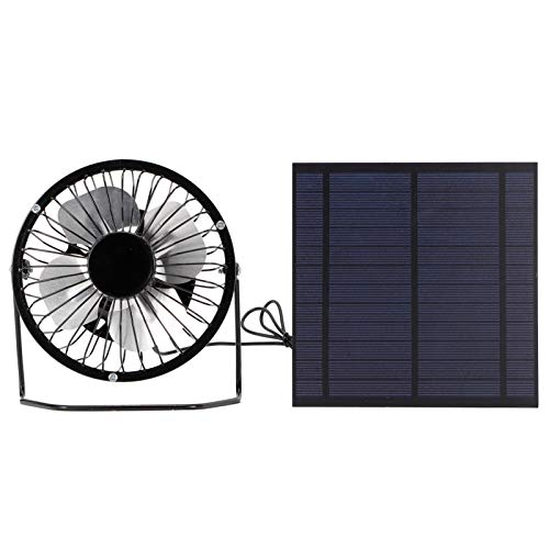 Conjunto de Paneles solares, Ventilador accionado por Paneles solares, fotovoltaica para Invernadero al Aire Libre