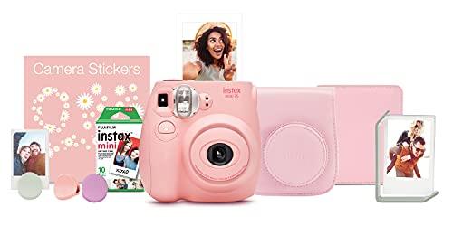 FUJIFILM Instax Mini 7s Instant Camera Bundle - Light Pink