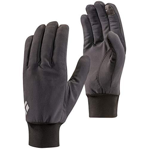 Black Diamond Lightweight Softshell Handschuhe / Touchscreen geeigneter, wasserabweisender & warmer Fingerhandschuh für milde Temperaturen / Unisex, Smoke, Größe: S