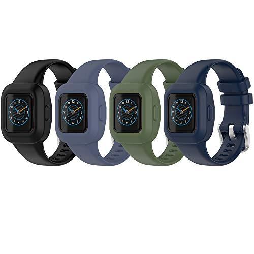QGHXO Band for Garmin Vivofit Jr. 3, Soft Silicone Replacement Watch Band Strap for Garmin Vivofit Jr. 3 Fitness Tracker (No Tracker)