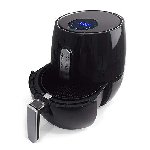 Vermogen Air Fryer 3.6L Black - Gemakkelijke bediening met ingebouwde timer, Vaatwasserbestendig, Digital Hot Air Fryer Oven Oilless Cooker voor Roosteren