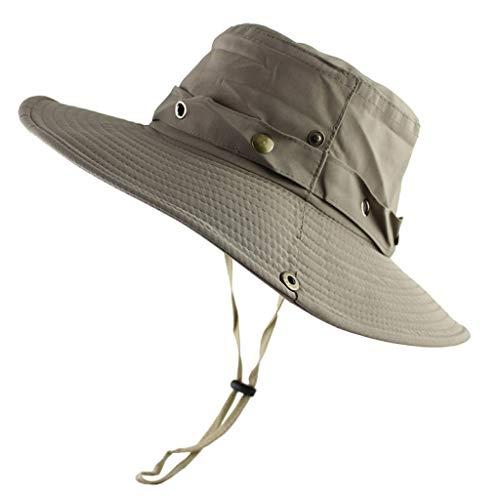 AROVON Cubo Sombrero de Verano de los Hombres de las Mujeres al aire libre Sombreros Sol Protección UV Ala Ancha Ejército Militar Pesca Sender