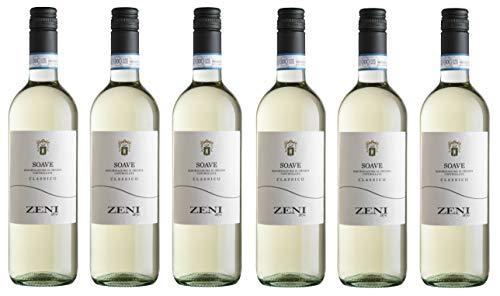 6x 0,75l - 2019er - Zeni - Soave Classico D.O.C. - Veneto - Italien - Weißwein trocken