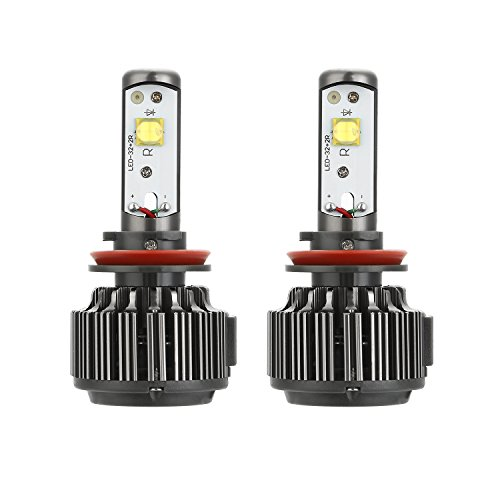 CICMOD H8/H9/H11/H16 LED Phares de KIT Lampe Head Light 60w Hi/Lo 7600LM 12V/24V/36V Lampes HID 6000K Xenon Blanc