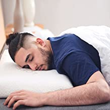 Lofe 2.5'' Thin Memory Foam Pillow for Stomach Sleepers - Two Washable Bamboo Pillowcases, Hypoallergenic - Flat, Slim, Therapeutic and Ergonomic for Spinal Support and Improved Breathing