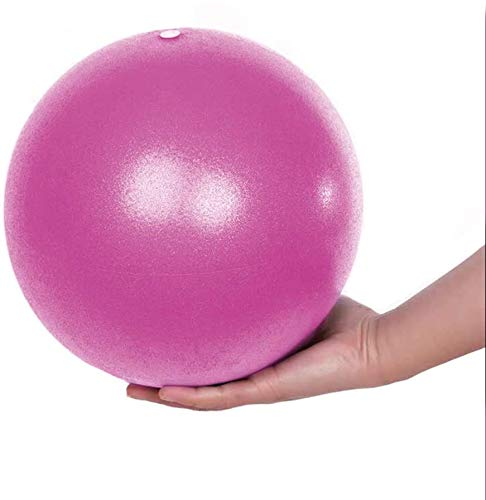 Gymnastikball Yoga Pilates Ball Kleine Übung Ball, Dicker Anti-Burst Gymnastikball inkl Ballpumpe, Rutschfester&Superleichter Soft Pilates Ball, Fitness Ball für Yoga,Heim, Büro,Sitzball,25 cm (Pink)