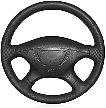 Trenza en la cubierta del volante para Mitsubishi Pajero Sport 2004 Montero Sport 2004 cubierta del
