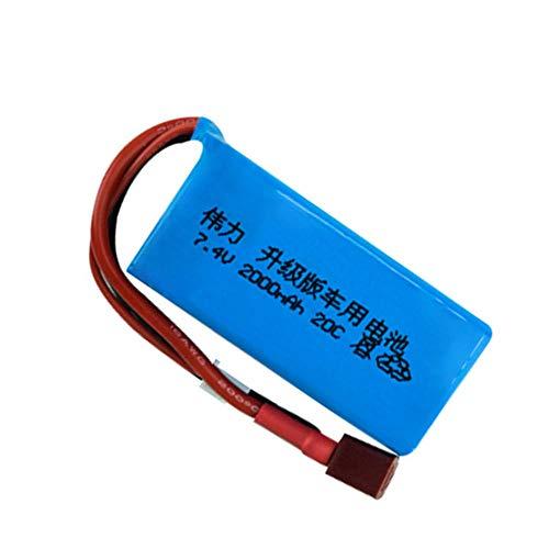 Batería 7 4V 2000mAh para A949 A959-B A969 A979-B K929-B control remoto coche 2s 7 4V batería LiPo para coche Wltoys-5 piezas