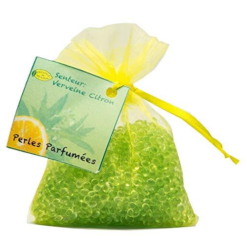Perles parfumées pour armoire, linge, voiture - senteur Verveine Citron - Artisan Parfumeur en Côte d'Azur