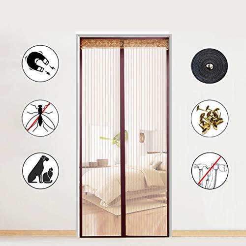 Airyyj Magnetisch horgordijn voor deuren, magische deuren, voor balkon, schuifdeuren, woonkamer of terrasdeur