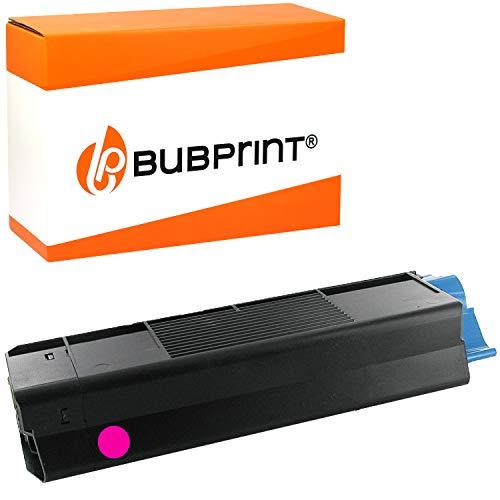 Bubprint Toner kompatibel für OKI 42804538 für C3100 C3200 C3200N C5100 C5150N C5200 C5250 C5250DN C5250N C5300 C5400 C5450DN C5510 C5540 MFP Magenta