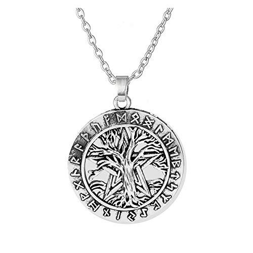WYFLL Joyería europea y americana árbol de la vida collar DIY aleación retro collar accesorios joyería joyería personalidad