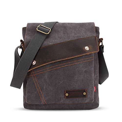 FANDARE Vintage Messenger Bag schoudertas laptoprugzak tas crossbody tas koerierstas vrouwen heren zeildoek