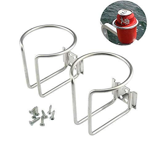2Pcs Stainless Steel Boat Ring Cup Drink Holder for Marine Yacht Truck RV