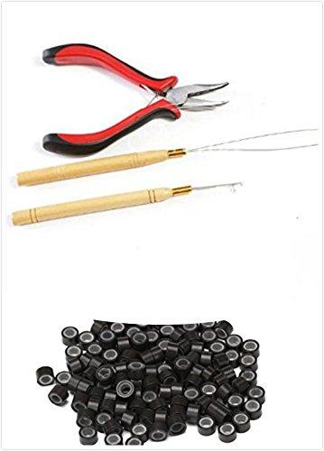 1botella/200pcs Micro enlaces/Beads + 1pcs tirar