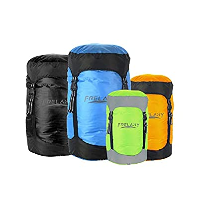 Frelaxy Compression Stuff Sack, Water-Resistant & Ultralight & Compact Sleeping Bag Compression Sack with Reflective Straps (8L/15L/25L/35L) - Space Saving Gear for Camping, Traveling (Blue, M)