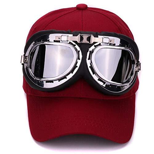 DGFB Algodón 6 Paneles Gafas De Esquí Gorra De Béisbol con Gafas Educativas Gorras Deportivas Decoración Novedad Halley Hat