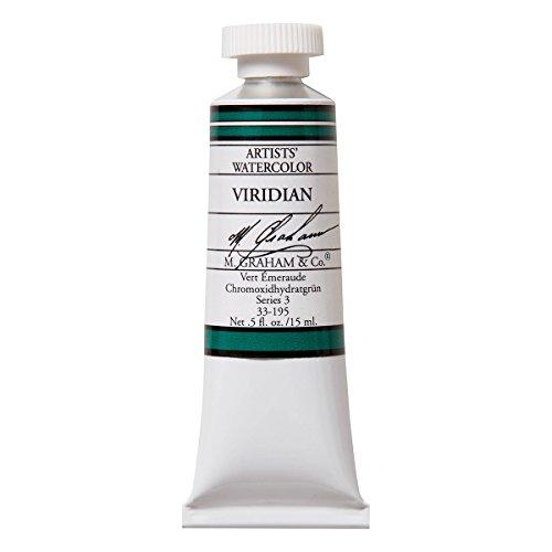 M. Graham 1/2-Ounce Tube Watercolor Paint, Viridian