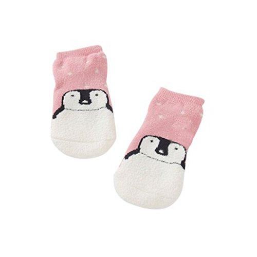 Minuya Baumwolle Bär Pinguin Muster Socken Neugeborene Kinder Anti-Rutsch-Socken 0-3Y
