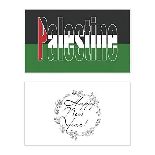 Naam van de vlag van Palestina Nieuwjaarskaart Herdenkingsbericht