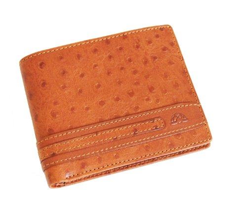 Tony Perotti TP05370 Geldbörse aus italienischem Straußenleder, Cognac