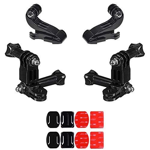 WZYTEU Juego de 2 almohadillas adhesivas 3M + soporte para cámara de casco, almohadillas adhesivas 3M de doble cara y soporte para casco de PC para cámara