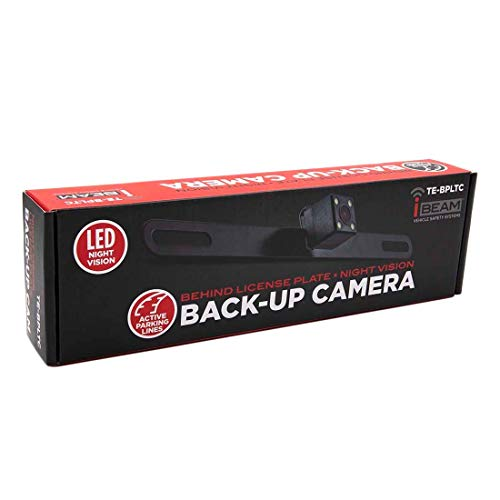 commercial LIC plate camera, active parking line, iBeam behind LED night vision metra backup camera