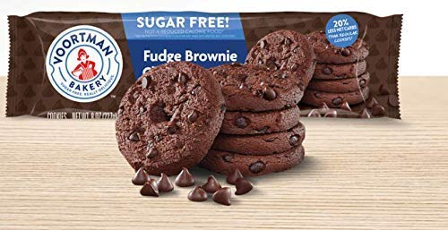 Voortman Sugar Free Fudge Brownie Chocolate Chip (Pack of 4)