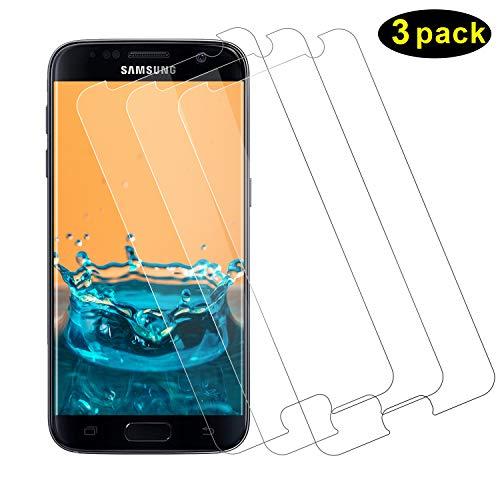 TOCYORIC Protector Pantalla Samsung Galaxy S7, [3 Pack] Alta Definicion -Sin Burbujas - Fácil de Instalar - 9H Dureza [Anti arañazos] Cristal Vidrio Templado para Samsung Galaxy S7