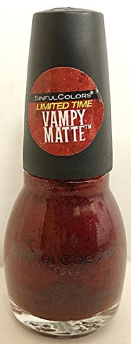 Sinful Colors Nail Polish Vampy Matte # 2317 Undead Red Limited Edition
