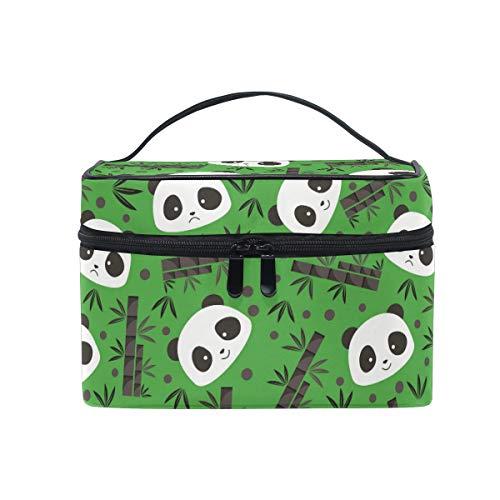 Bambou Vert Panda Trousse Sac de Maquillage Toilette Cas Voyage Sac Organisateur Cosmétique Boîtes pour Les Femmes Filles