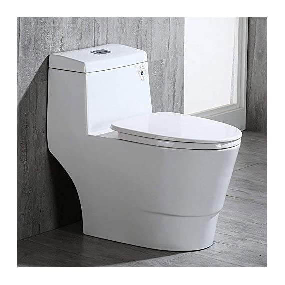 WOODBRIDGE T-0001, Dual Flush Elongated One Piece Toilet with Soft Closing Seat, Comfort Height, Water Sense, High-Efficiency, Rectangle Button B-0940 Pure White 1 <p>✅ : Ship from warehouse directly ; Fast shipment Thant regular order ✅ : Luxurious Modern Design one piece toilet , Clean, sleek look and compliment with different styles like modern , craftsman , traditional and etc. ✅: The skirted trap way creates a sleek look and makes cleaning easier. Compare to other toilets, it has no corners and grooves, very easy to reach for cleaning . ✅: Siphon Flushing one piece toilet, Fully glazed flush system , bringing a super quiet and powerful flushing - NO clogs, NO leaks, and NO problem ✅: Comfort Height Design, Chair-height seating that makes sitting down and standing up easier for most adults ✅ High end Soft Closing Toilet Seat with Stainless Steel Durable Seat Hinge, Easy to get the toilet seat off to tighten or clean after years of use. ✅ : Package Includes toilet, pre-installed soft closing toilet seat, pre-installed water fitting , high quality wax ring , floor bolts , and installation instruction, also Include special hand wrench tool to easily tighten the bolts in narrow spaces. ✅ : US & Canada UPC & CSA certified products. High-efficiency, Water Sense Certified toilet - meet or exceed ANSI Z124. 1 & ANSI A112-19. 7 ✅ : 5 year limited on porcelain parts against fading/staining of the glaze; 1 Year on flushing mechanism & soft closing toilet seat , Woodbridge US based product support team is happy to assist with any sales or product-oriented queries.</p>