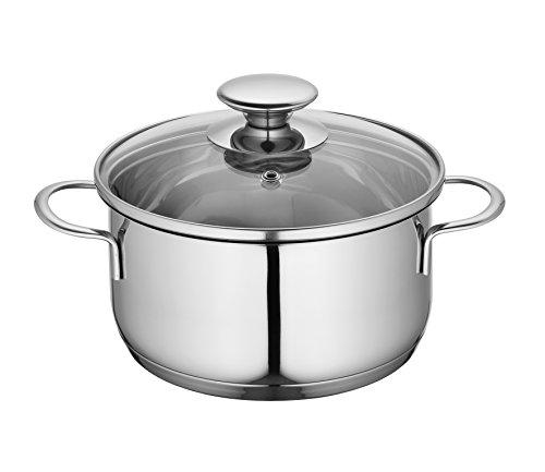 Küchenprofi 2370702812 Edelstahl-Topf mit Glasdeckel